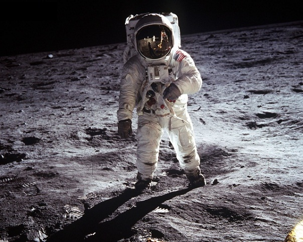 Buzz Aldrin on the Moon July 1969
