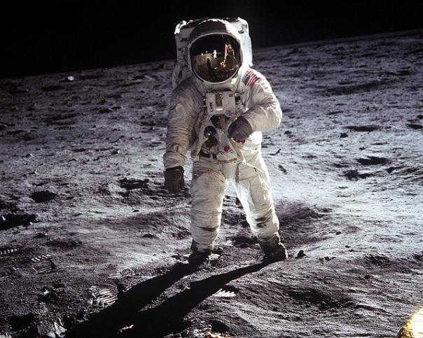 Buzz Aldrin on the Moon July 1969