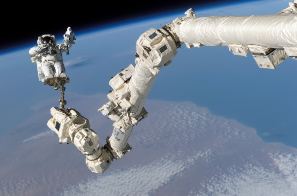 Canadarm2 Connected to the International Space Station