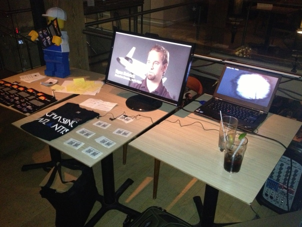 Paul's Chasing Atlantis Table Setup at Yuri's Night Toronto