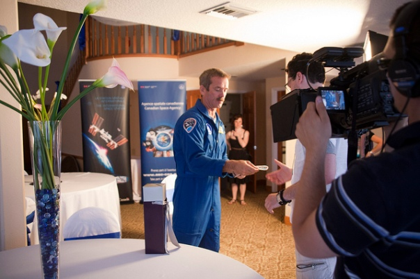 Chris Hadfield during interview with Chasing Atlantis team cr Melanie Godecki