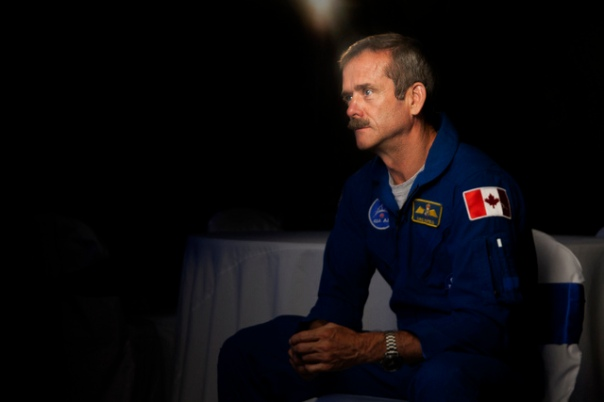 Chris Hadfield During Interview with Chasing Atlantis cr Melanie Godecki