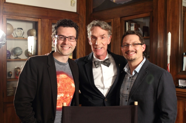 Bill Nye (Centre) With Chasing Atlantis Team Paul (Right) and Matthew (Left)