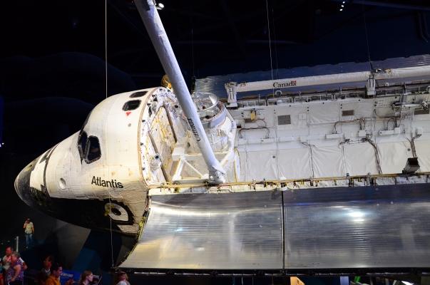 Shuttle Atlantis in New Shuttle Exhibit cr. Ryan Horan