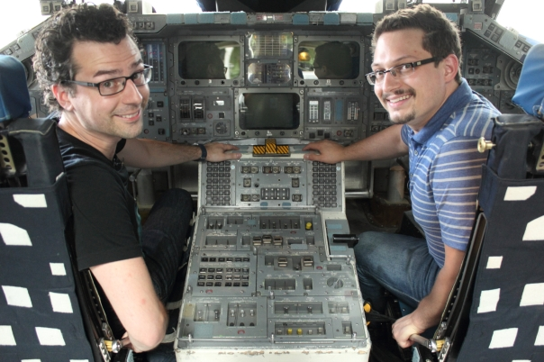Full Fuselage Shuttle Trainer (FFT)  with Matt Cimone (left) and Paul Muzzin (right)