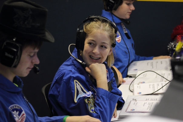 Abigail Harrison AKA Astronaut Abby Prepares for her mission simulation with crewmates