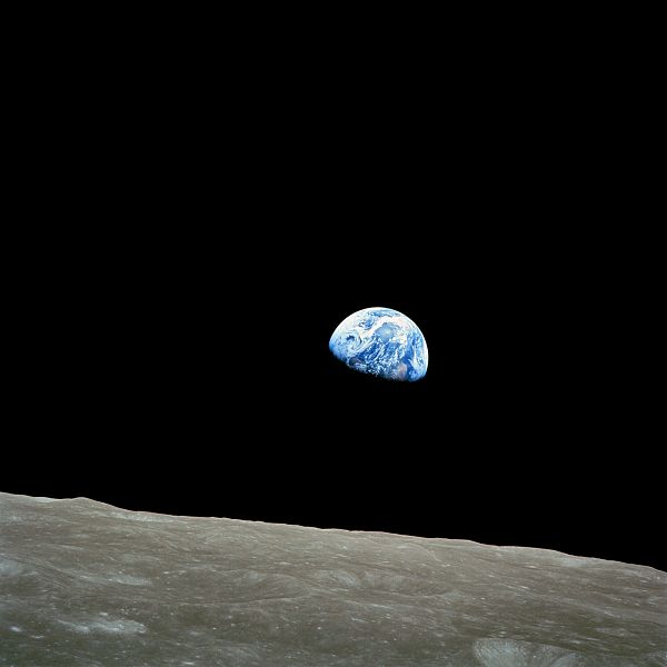 "Famous ""Earthrise"" Photo taken by Apollo 8 Dec 24th 1968"