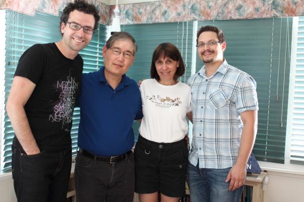 Chasing Atlantis team (Paul Muzzin Right, Matt Cimone Left) with Michael and Denise Okuda of Star Trek