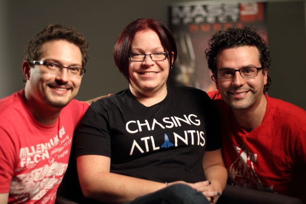 Ann Lemay with Chasing Atlantis Team at BioWare Studios in Montreal, Canada