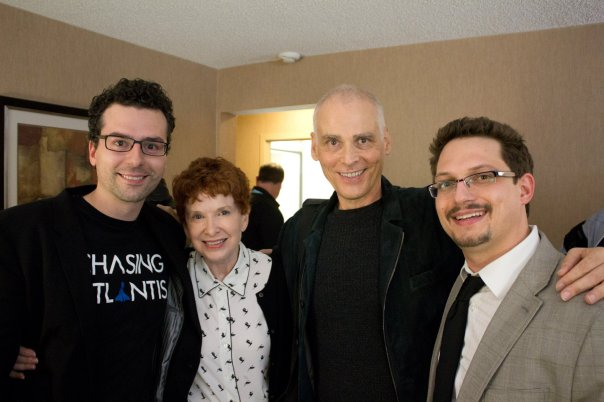 Paul (right) and Matt (left) with Judy and Garfield Reeve-Stevens (Center) at the 2013 Constellation Awards