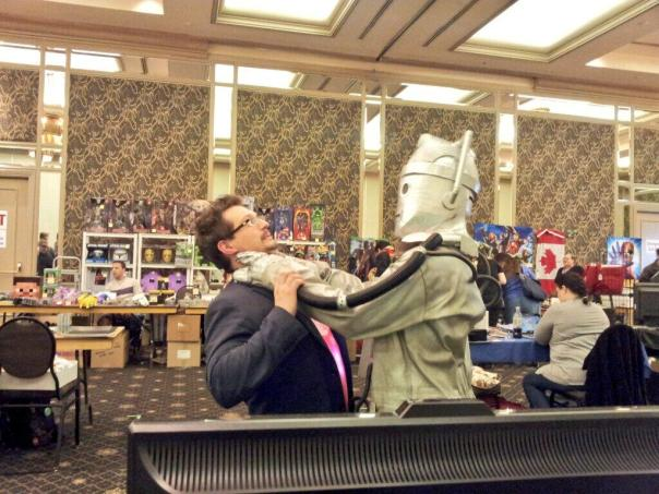 Paul Attacked by Cyberman at Reversed Polarity 2013