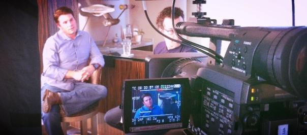 Rod Roddenberry (left)  During Interview with Matt  Cimone (right) on Chasing Atlantis