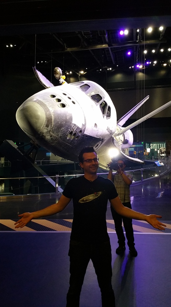 Matt and Paul with Shuttle Atlantis in the Background