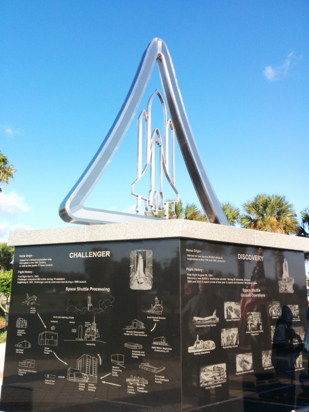 Space Walk of Fame Shuttle Monument at Space View Park