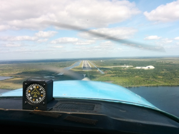 Approaching the Runway at the Kennedy Space Center