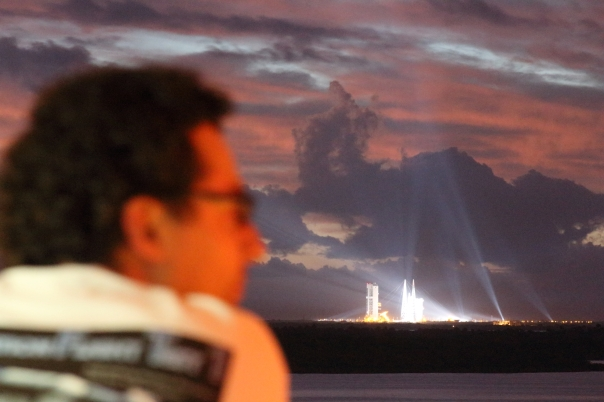 Waiting anxiously for Orion's Launch at the Kennedy Space Center