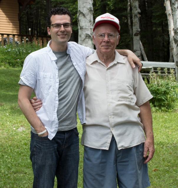 My grandfather and I at his cottage on Shebandowan Lake in North Western Ontario