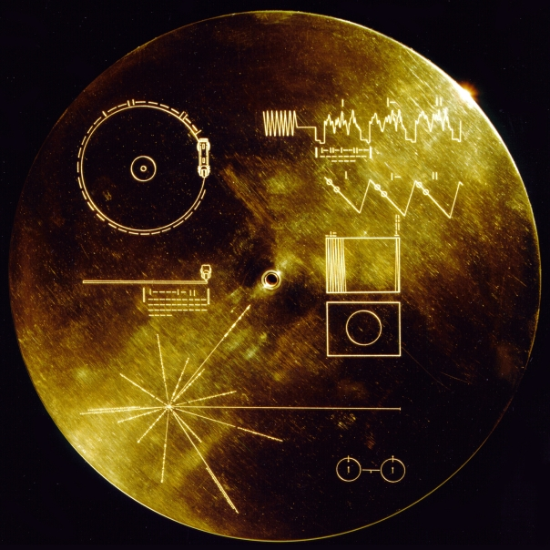 Cover of the Voyager Probe Golden Record (wikimedia)